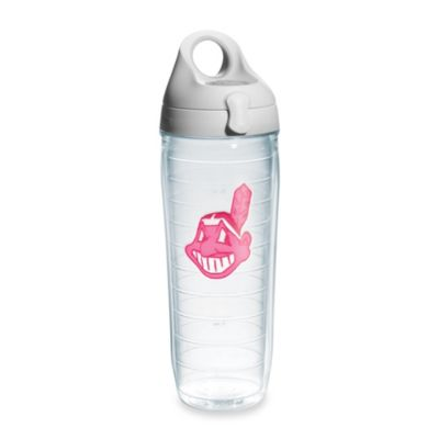 Tervis® Cleveland Indians Emblem 24–Ounce Water Bottle with Lid in Neon Pink