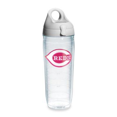 Tervis® Cincinnati Reds Emblem 24–Ounce Water Bottle with Lid in Neon Pink