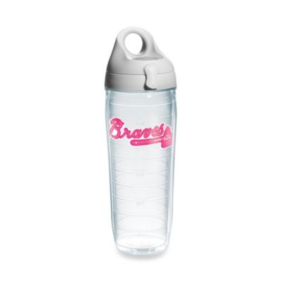Tervis® Atlanta Braves Emblem 24–Ounce Water Bottle with Lid in Neon Pink