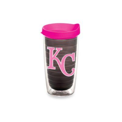 Tervis® MLB Kansas City Royals Emblem 16-Ounce Tumbler with Lid in Quartz/Neon Pink
