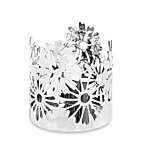 Yankee Candle® Everyday Metal Chrome Daises Jar Candle Holder