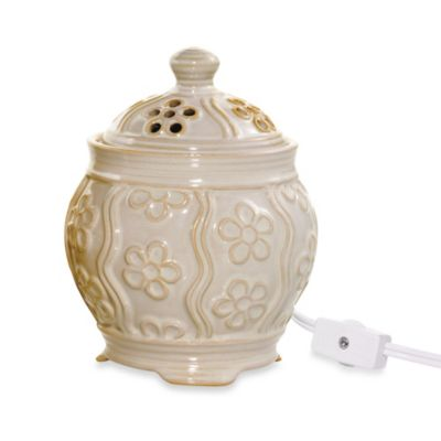 Yankee Candle® Everyday Ceramic Denby Floral Electric Wax Melts Warmer in Ivory