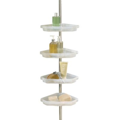Better Sleep Atlas 4-Shelf Tension Pole Corner Shower Caddy