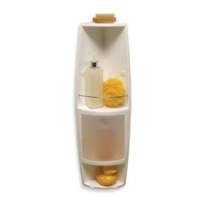 Buy Telescoping Corner Shower Caddy With Plastic Shelves