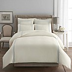 Signature Link Duvet Cover in Abyss/Ivory