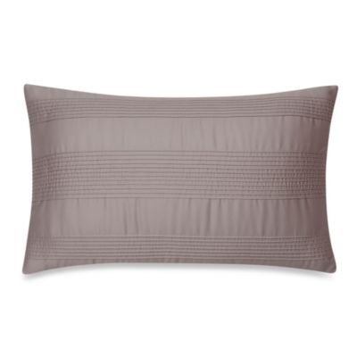 Portico Windswept Organic Oblong Throw Pillow in Kitten Grey