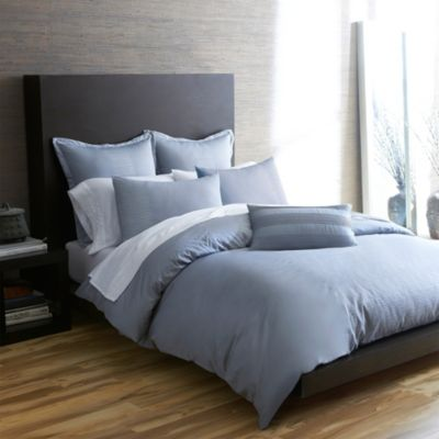 Portico Windswept Organic King Duvet Cover in Quarry Blue
