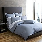 Portico Windswept Organic Duvet Cover in Quarry Blue