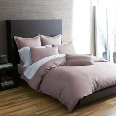 Portico Windswept Organic Full/Queen Duvet Cover in Sphinx Rose