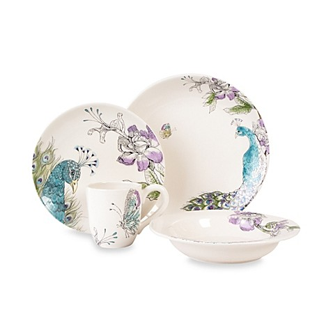 Edie Rose by Rachel Bilson Peacock 4-Piece Place Setting