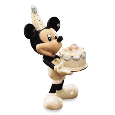Disney® by Lenox® April Birthstone Mickey Figurine