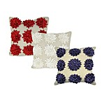 Satin Tape Dahlia Square Toss Pillow