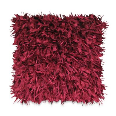 Plum Square Decorative Pillow