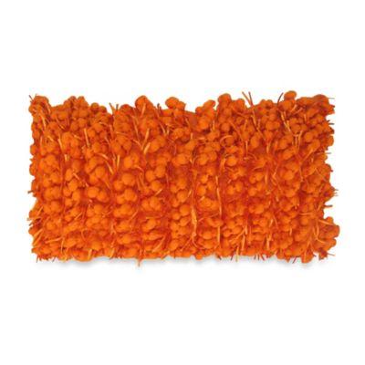 Orange Oblong Pillow