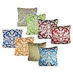 Ikat Detail Square Toss Pillow