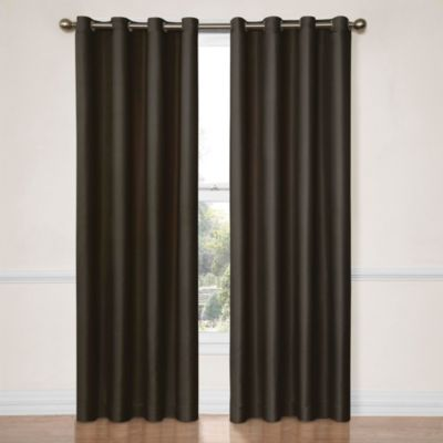 Blue and Tan Window Curtains