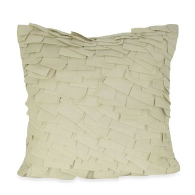 Red Ivory Throw Pillow