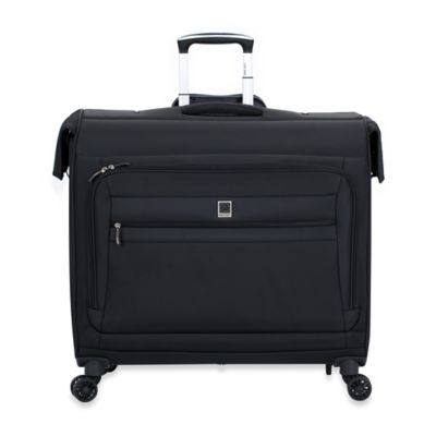 DELSEY Hyperlite Wheeled Spinner Garment Bag in Black