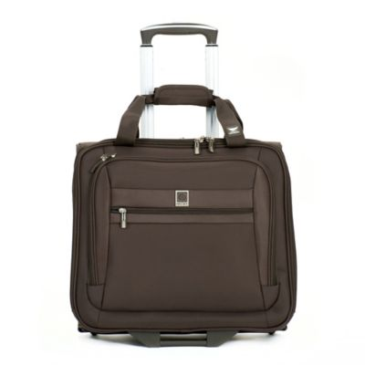 DELSEY Helium Hyperlite Carry-On Wheeled Tote Bag in Mocha
