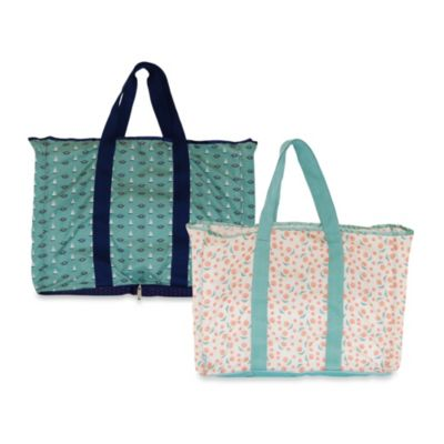 BlueAvocado® Designed by Lauren Conrad Foldable (eco) Shopper Wallet Tote in Rose