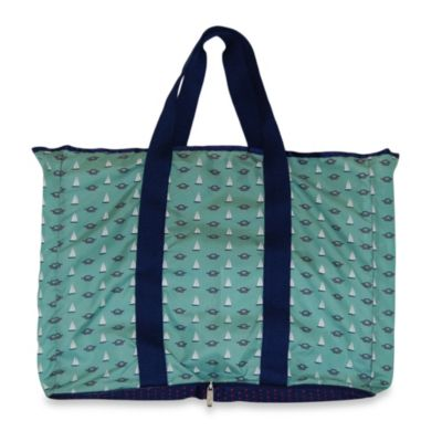 BlueAvocado® Designed by Lauren Conrad Foldable (eco) Shopper Wallet Tote in Nautical
