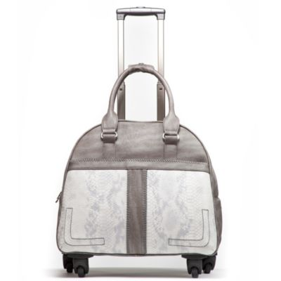 Hang Accessories Boho Chic Trolley Bag with 360-Degree Wheels in Grey