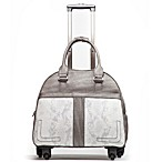 Hand Accessories Boho Chic Trolley Bag with 360-Degree Wheels in Grey