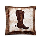 Abilene Ranch Boot Square Toss Pillow