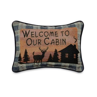 Bear Lodge Oblong Toss Pillow