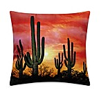 Saguaro Desert Sunset Square Toss Pillow