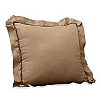 Colette Pleated Square Toss Pillow in Cocoa