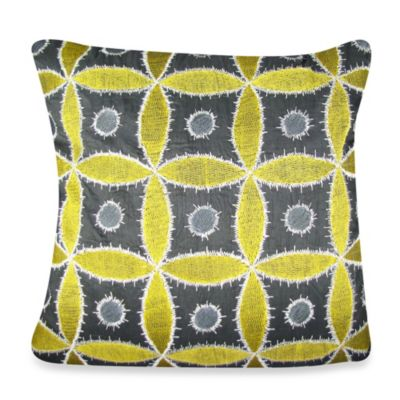 Ethnic Flora Square Throw Pillow