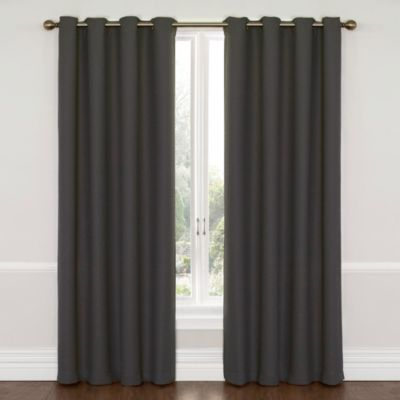 Insola Westin 95-Inch Blackout Window Curtain Panel in Charcoal Gray