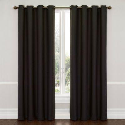 Insola Westin 63-Inch Blackout Window Curtain Panel in Jet Black
