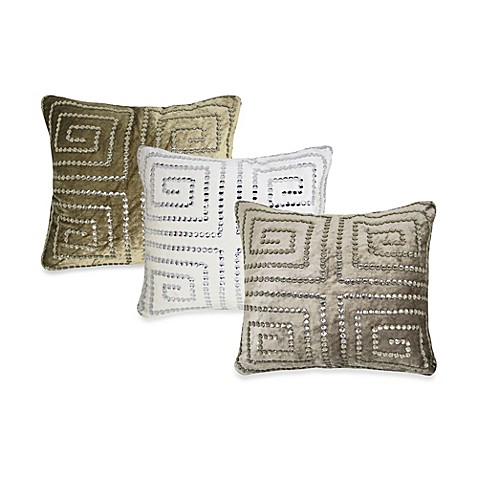 Greekie Jewels Velvet Square Toss Pillow