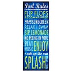 Pool Rules Indoor/Outdoor Wall Art
