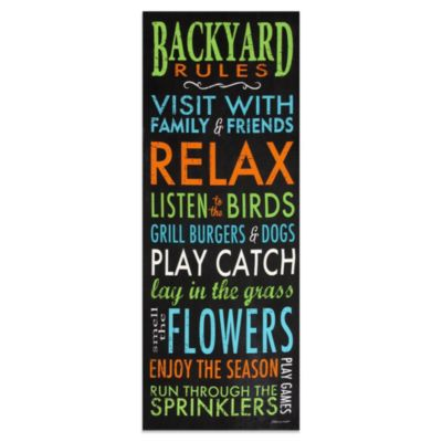 Backyard Rules Indoor/Outdoor Wall Art