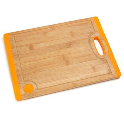 Fiesta® 14-Inch Bamboo with Silicone Cutting Board in Tangerine