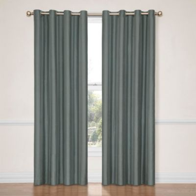 Insola Hailey 84-Inch Blackout Window Curtain Panel in Mushroom Silver