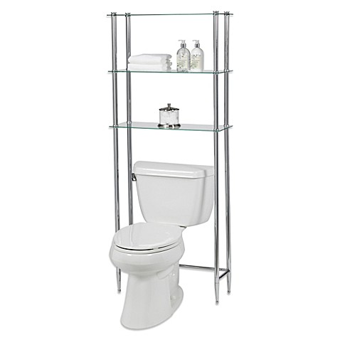 bath l 39 etagere 3 shelf glass space saver from bed bath beyond
