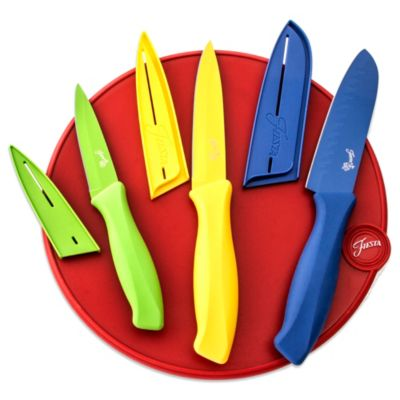 Fiesta® 7-Piece Cutlery Set with Scarlet Cutting Board