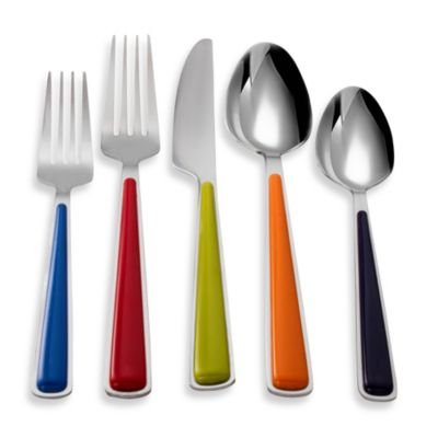 Multi Colored Flatware Set