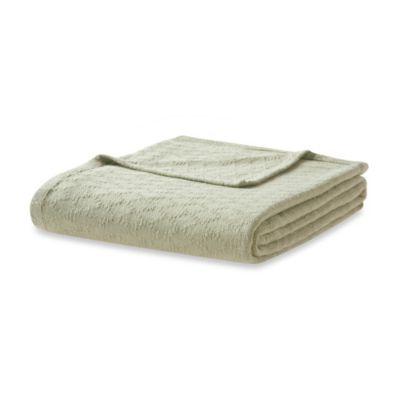 Freshspun Cotton Twin Blanket in Green