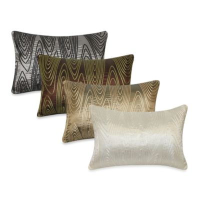 Faux Bois Cord Oblong Toss Pillow
