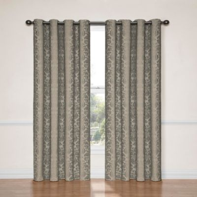 Insola Naomi 84-Inch Blackout Window Curtain Panel in Smoke Blue