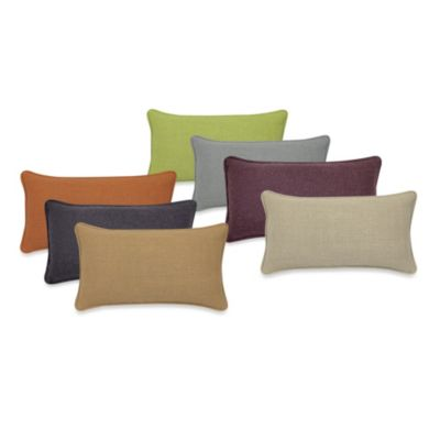 Contemporary Loft Oblong Throw Pillow in Sand