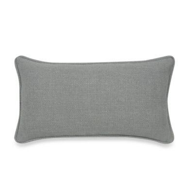 Contemporary Loft Oblong Throw Pillow in Grey