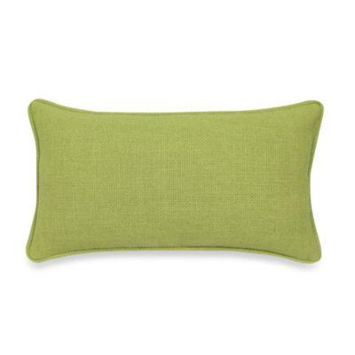 Contemporary Loft Oblong Throw Pillow in Apple
