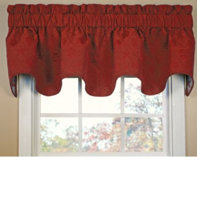 Shell Trellis Scallop Valance in Red