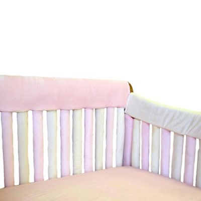Go Mama Go Designs® 52-Inch x 12-Inch Teething Guard in Pink & Creme